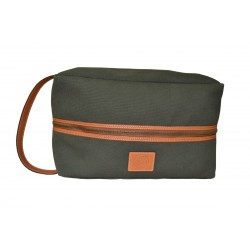 Green Leather Shoe Bag