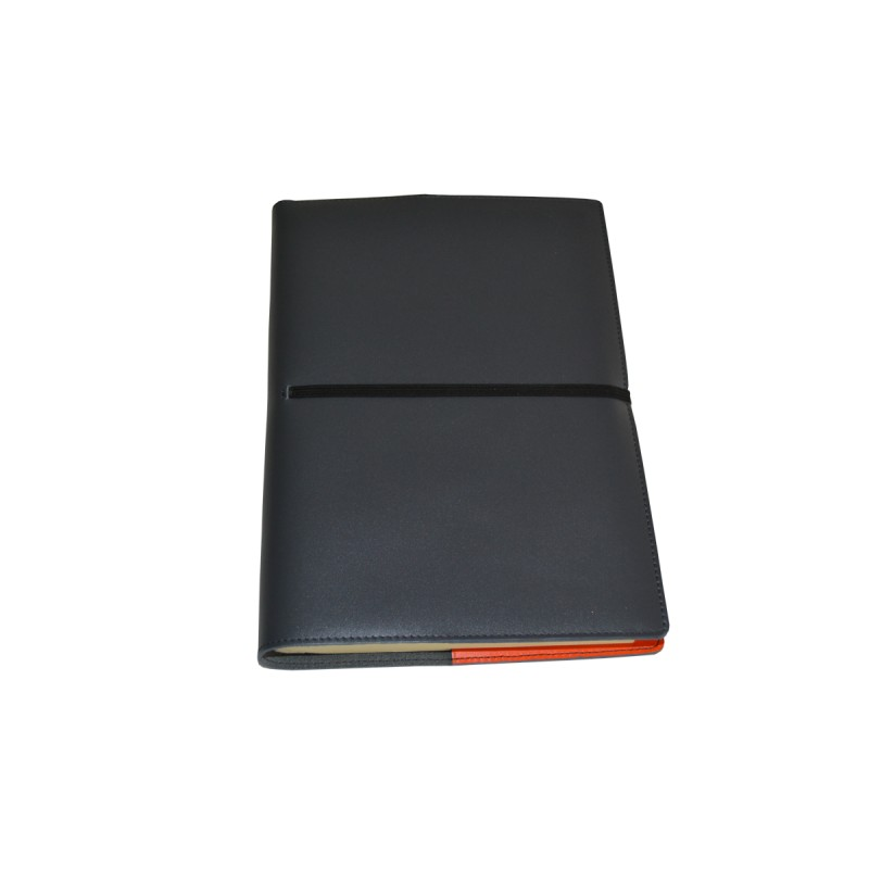 Cookbook Black Cover : Black leather book cover real studio