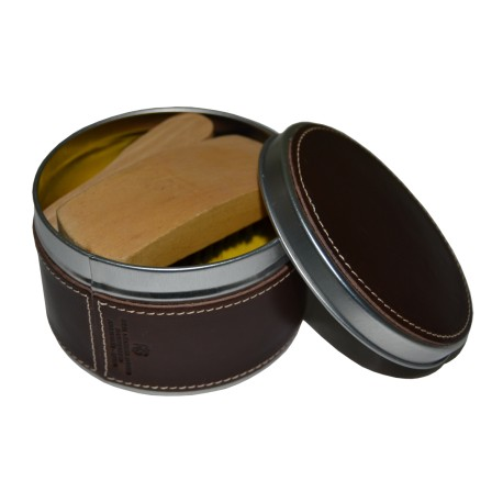 Brown Leather Shoes Clean Set