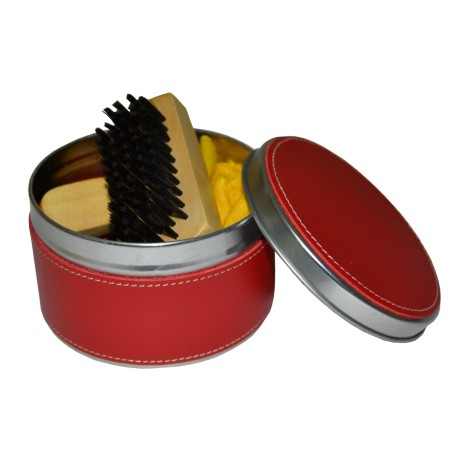 Red Leather Shoes Clean Set