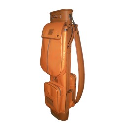 Orange Travel Leather Golf Bag
