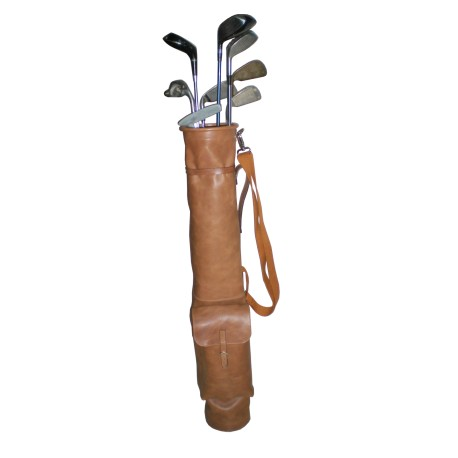 Brown Sunday Leather Golf Bag