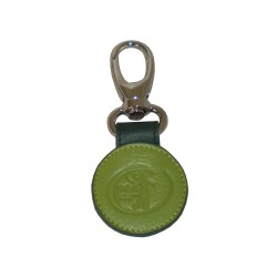 Green Leather Key Ring