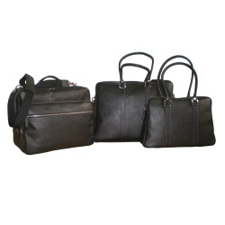 Black Leather Travel Bags