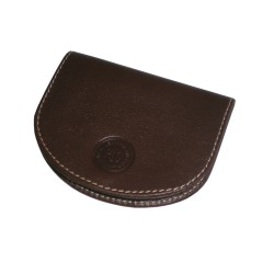 Brown Coin Leather Purse