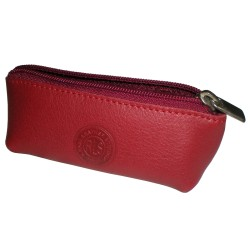Burgundy Coin Leather Purse
