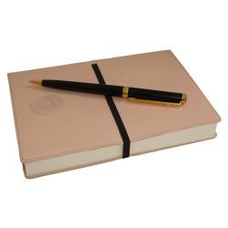 Cuaderno Piel Beige