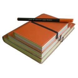 Orange Leather Notebooks