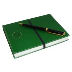 Cuaderno Piel Verde