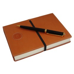 Dark Tan Leather Notebook