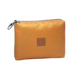 Orange Leather Multifunction Bag