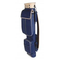 Blue Travel Leather Golf Bag