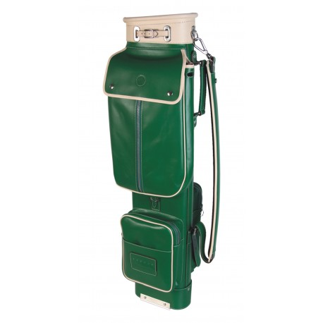 Green Travel Leather Golf Bag
