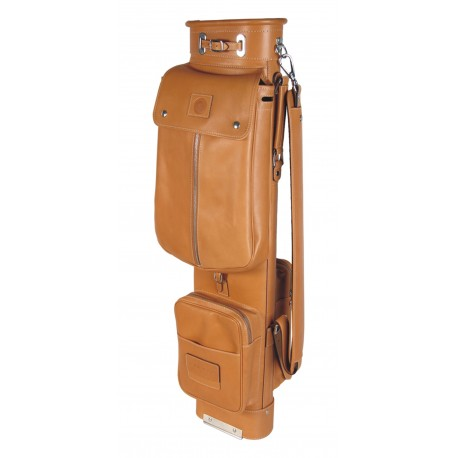 Tan Travel Leather Golf Bags