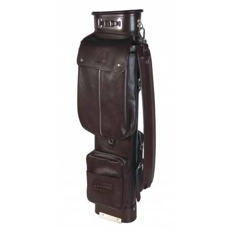 Brown Travel Leather Golf Bag
