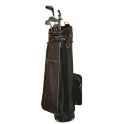 Brown Leather Golf Bag