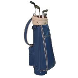 Blue Leather Golf Bag