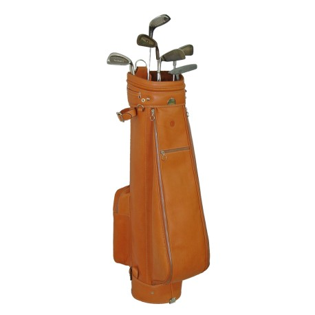 Tan Leather Golf Bag