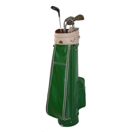 Green Leather Golf Bag