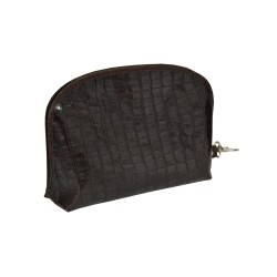 Brown Alligator Leather Multifunction Bag