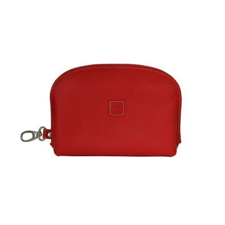 Red Leather Multifunction Bag