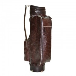 Brown Alligator Leather Golf Bag