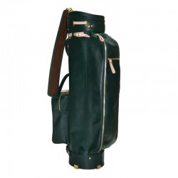 Green Carry Leather Golf Bag