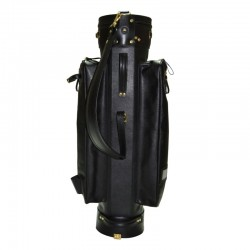 Black Leather Golf Bag Cart