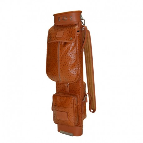 Ostrich Travel Leather Golf Bag