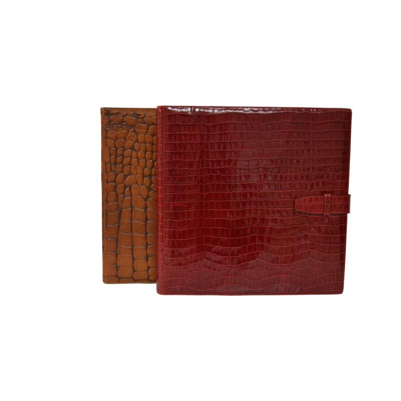Luxury Photo Album: Burgundy Leather Photo Album