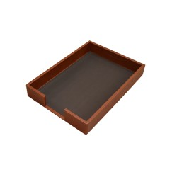 Brown Leather Tray Portfolios