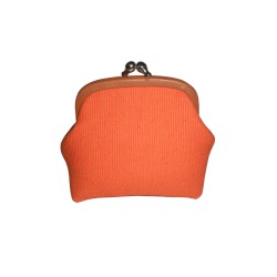 Orange Coin Leather Purse