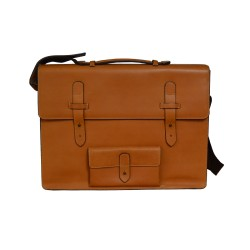 Tan Leather Messenger Bag