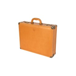 Tan Leather Attache Case