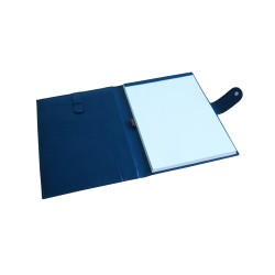 Blue Leather Portfolio