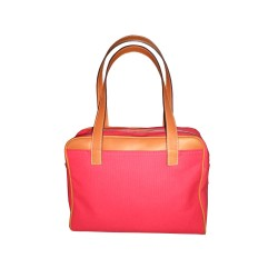 Red Canvas Handbag