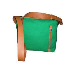 Green Canvas Handbag