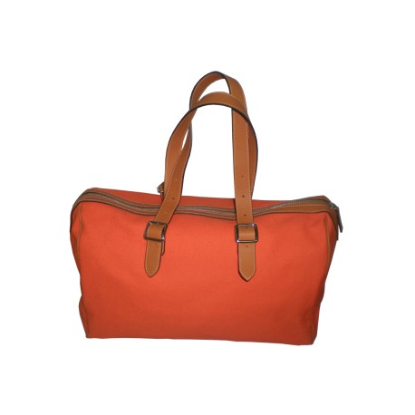 Orange Canvas Weekend Handbag