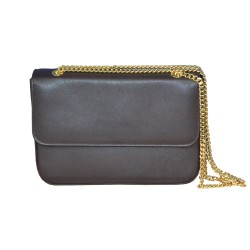 Dark Brown Leather Clutch Bag