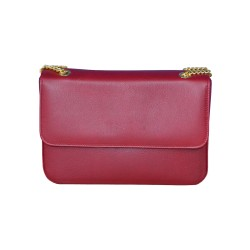Burgundy Leather Clutch Bag