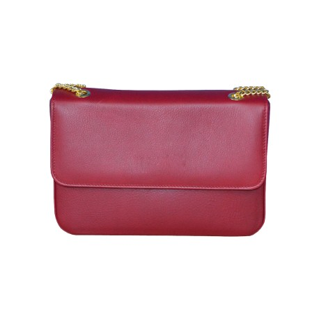 Burgundy Leather Clutch Bag