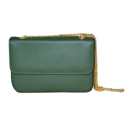 Green Leather Clutch Bag