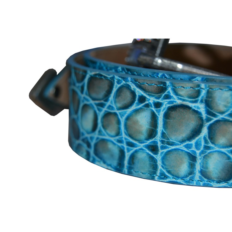 turquoise leather belt real leather studio