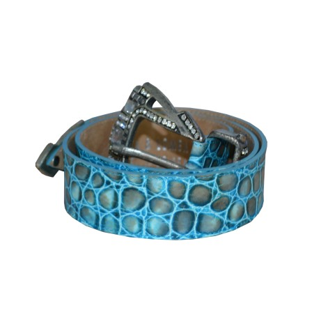 Turquoise Leather Belt