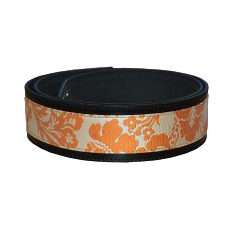 Orange Luxury Leather Belt