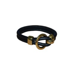 Black Luxury Leather Bracelet