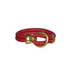 Red Luxury Leather Bracelet