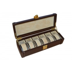 Brown Luxury Leather Watch Box