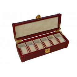 Burgundy Luxury Alligator Watch Box