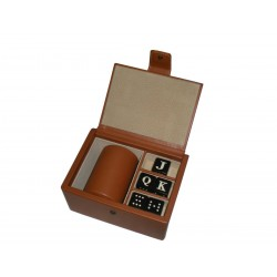 Tan Leather Board Game